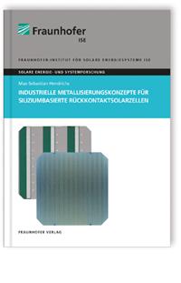 Buch: Industrielle Metallisierungskonzepte für siliziumbasierte Rückkontaktsolarzellen
