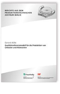 Buch: Qualitätsreferenzmodell für die Produktion von Unikaten und Kleinserien