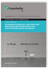 Buch: Ozonbasierte Reinigungs- und Konditionierungsverfahren für die Herstellung hocheffizienter Silizium Solarzellen