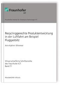 Buch: Recyclinggerechte Produktentwicklung in der Luftfahrt am Beispiel Fluggastsitz