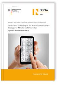 Buch: Innovative Technologien für Ressourceneffizienz - Strategische Metalle und Mineralien