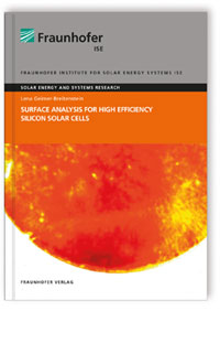 Buch: Surface Analysis for High Efficiency Silicon Solar Cells