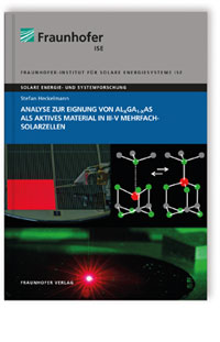 Buch: Analyse zur Eignung von AlxGa1-xAs als aktives Material in III-V Mehrfachsolarzellen