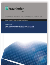 Buch: UMG Silicon and BOSCO Solar Cells