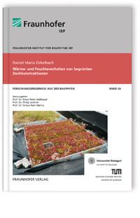 Buch: Wärme- und Feuchteverhalten von begrünten Dachkonstruktionen