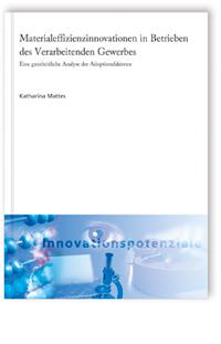 Buch: Materialeffizienzinnovationen in Betrieben des Verarbeitenden Gewerbes
