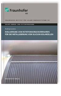 Buch: Evaluierung von Rotationsdruckverfahren für die Metallisierung von Silicium-Solarzellen