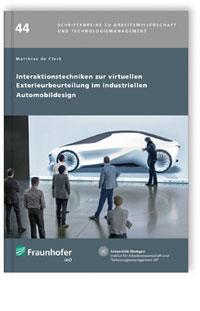Buch: Interaktionstechniken zur virtuellen Exterieurbeurteilung im industriellen Automobildesign