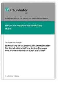 Buch: Entwicklung von Kohlenwasserstoffschichten für die schmiermittelfreie Kaltumformung von Aluminiumblechen durch Tiefziehen