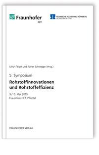 Buch: Rohstoffinnovationen und Rohstoffeffizienz. Band 5