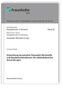 Buch: Entwicklung keramischer Perowskit-Werkstoffe und Bauelementstrukturen für elektrokalorische Anwendungen