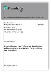 Buch: Untersuchungen zum Einfluss von Signalgrößen auf Prozesscharakteristika beim Pulsanodisieren von Aluminium