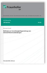 Buch: Methode zur Zuverlässigkeitsgestaltung von Schneid-Klemmverbindungen