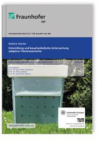 Buch: Entwicklung und bauphysikalische Untersuchung adaptiver Flächenelemente