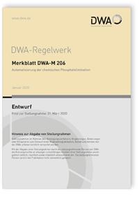 Merkblatt: Merkblatt DWA-M 206 Entwurf, Januar 2020. Automatisierung der chemischen Phosphatelimination