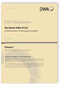 Merkblatt: Merkblatt DWA-M 541 Entwurf, Oktober 2020. Statistische Analyse von Niedrigwasserkenngrößen