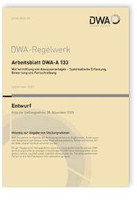Merkblatt: Arbeitsblatt DWA-A 133 Entwurf, September 2020. Wertermittlung von Abwasseranlagen - Systematische Erfassung, Bewertung und Fortschreibung