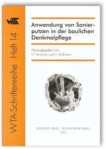 Buch: Anwendung von Sanierputzen in der baulichen Denkmalpflege