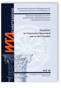 Buch: Gipsmörtel im historischen Mauerwerk und an den Fassaden