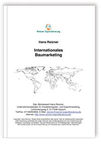 Buch: Internationales Baumarketing