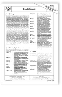 Merkblatt: AGI aktuell TIB Z 13. Brandfallmatrix. Ausgabe April 2017