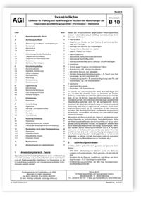 Merkblatt: AGI Arbeitsblatt B 10. Industriedächer. Leitlinien für Planung und Ausführung von Dächern mit Abdichtungen auf Tragschalen aus Stahltrapezprofilen - Porenbeton - Stahlbeton. Ausgabe Mai 2018