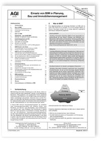 Merkblatt: AGI aktuell TIB. Einsatz von BIM in Planung, Bau und Immobilienmanagement. Ausgabe April 2018