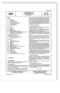 Merkblatt: AGI Arbeitsblatt Q 112. Dämmarbeiten an betriebstechnischen Anlagen. Dampfbremsen. Ausgabe Oktober 1980