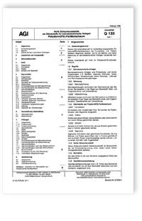 Merkblatt: AGI Arbeitsblatt Q 133, Teil 1. Harte Schaumkunststoffe als Dämmstoffe für betriebstechnische Anlagen. Polystyrol(PS)-Partikelschaum. Ausgabe Februar 1986
