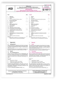 Merkblatt: AGI Arbeitsblatt Q 157, Teil 7. Kälteschutz. Wasser-/CO2-getriebener Polyurethan (PUR)-Ortschaum. Dämmschichtdicken zur Tauwasserverhütung, Kälteverluste, Massen. Ausgabe August 1999. Cold protection. Water-/CO2-blown polyurethane (PUR) in-situ foam. Insulation-layer thicknesses to prevent condensation, cold losses, masses. August 1999