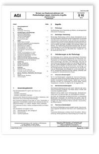 Merkblatt: AGI Arbeitsblatt S 10, Teil 3. Schutz von ...