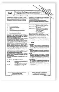 Merkblatt: AGI TIB Z 3. Kanalinstandhaltungs-, -sanierungsarbeiten. Dichtheitsnachweis von Abwasserkanalsystemen. Ausgabe Januar 1994