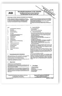 Merkblatt: AGI TIB Z 5. Kanalisationssysteme in der Industrie. Qualitätssicherung bei Inliner-Verfahren mit Werkstoffen aus GFK und PE-HD. Ausgabe Juni 1996