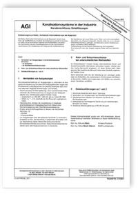 Merkblatt: AGI TIB Z 6. Kanalisationssysteme in der Industrie. Kanalanschlüsse, Detaillösungen. Ausgabe Januar 2007