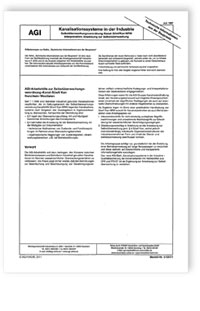 Merkblatt: AGI TIB Z 7. Kanalisationssysteme in der Industrie. Selbstüberwachungsverordnung-Kanal-SüwVKan NRW. Interpretation, Anweisung zur Selbstüberwachung. Ausgabe Juli 1997
