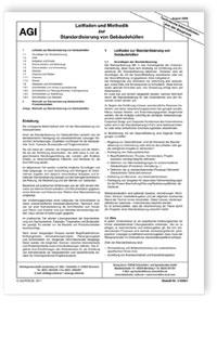 Merkblatt: AGI TIB Z 12. Leitfaden und Methodik zur Standardisierung von Gebäudehüllen. Ausgabe August 2009