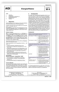 Merkblatt: AGI Arbeitsblatt W 4. Energieeffizienz. Ausgabe Dezember 2015