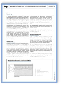 Merkblatt: bga Merkblatt 01, Stand August 2014. Schüttdämmstoffe unter schwimmenden Gussasphaltestrichen