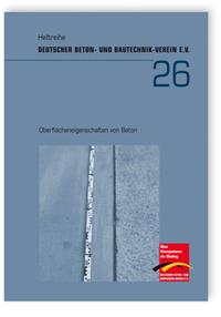 Buch: Oberflächeneigenschaften von Beton