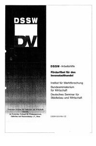 Buch: Förderfibel für den Innenstadthandel. DSSW-Arbeitshilfe