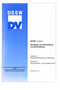 Buch: Strategien zur Entwicklung von Brachflächen. DSSW-Leitfaden