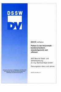 Buch: Parken in der Innenstadt: kundenorientiert, standortgerecht und effizient. DSSW-Leitfaden