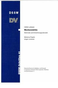 Buch: Wochenmärkte. Merkmale und Entwicklungspotenziale. DSSW-Leitfaden
