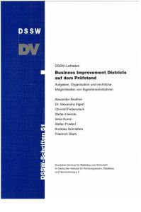 Buch: Business Improvement Districts auf dem Prüfstand. Aufgaben, Organisation und rechtliche Möglichkeiten von Eigentümerinitiativen