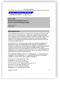 Merkblatt: Arbeitsblatt ATV-A 106. Oktober 1995. Entwurf und ...
