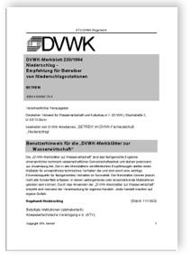 Merkblatt: Niederschlag - Empfehlung für Betreiber von Niederschlagsstationen
