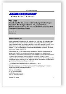 Merkblatt: Arbeitsblatt ATV-A 126. Dezember 1993. Grundsätze für die ...