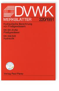Merkblatt: Hydraulische Berechnung von Fließgewässern