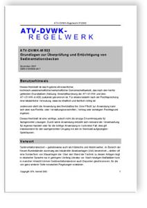 Merkblatt: Merkblatt ATV-DVWK-M 503, Dezember 2001. Grundlagen zur Überprüfung und Ertüchtigung von Sedimentationsbecken