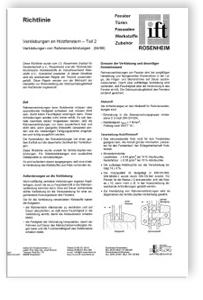 Merkblatt: ift-Richtlinie - Verklebungen an Holzfenstern. Teil 2 - Verklebungen von Rahmenverbindungen